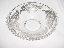 """Sterling Silver Overlay Centerpiece Bowl 12"""" Candlewick Crystal Elegant Exquisit"""