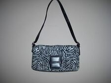 Apostrophe Black & White Zebra Print Shoulder Handbag EUC