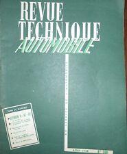 Revue technique CITROEN H  HZ HY TUBE 2ème partie RTA 160 1959