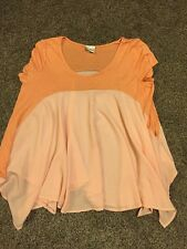 Daytrip By Buckle Women's Size Large Shirt Sheer Scoopneck