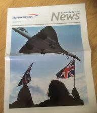 Concorde's last flight: Souvenir BA News