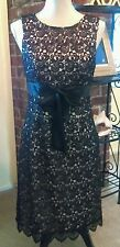 J S  Collections black lace lined sleeveless sheath dress size 6