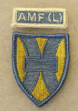 60'S ALLIED MOBILE FORCE (LAND) PATCH AND LOOSE TAB COLOR MERROWED EDGE