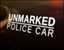 UNMARKED POLICE Car Sticker Graphic Decal VW DUB VAG Euro Japan Drift Funny