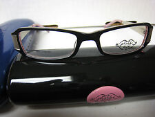 Phoebe Couture  Eyeglass Frames  P226 BLACK  49-17-125 With  Case New
