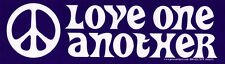 Love One Another (W/ Peace Sign) - Magnetic Bumper Sticker / Decal Magnet