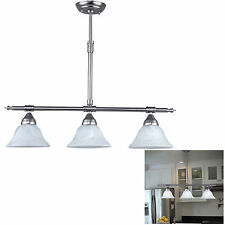 Brushed Nickel Kitchen Island Pendant Light Fixture Dining, 3 Globe Bar Lighting