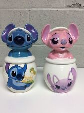 Disney Cookie Jar STITCH&ANGEL Sugar And Cream Large Ceramic Rare NEW!!