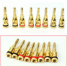 Fashion 8x Gold Musical Speaker Cable Wire Screw Metal Banana Plug Connector lm2
