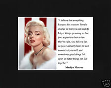 "Marilyn Monroe "" I believe."" Quote Black Large Matted Photo Picture"