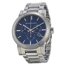 Burberry Men's BU9363 Chronograph Blue Dial Stainless Steel 42mm Watch