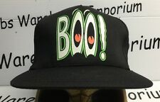 Halloween Ghost BOO Vintage SnapBack Hat Cap Cheap Costume NWOT Novelty