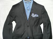 MATTARAZI ABITO SARTORIALE Men's Gray Two Button Wool Slim-Fit Suit 40R 34WX31