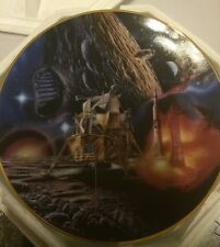 MOON LANDING PLATE from Hamilton Collections...Miles Stones In Space COA