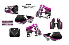 1991 1992 CR125 CR250 graphics CR 125 250 deco kit NO7777 Hot Pink