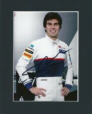 SERGIO PEREZ FORMULA 1 F1 HAND SIGNED MOUNTED AUTOGRAPH PHOTO INC COA