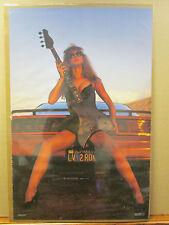 Vintage 1988 Love Live to Rock original hot girl car guitar poster  9231