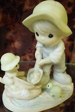 "Precious Moments #603864 ""Nothing Can Dampan The Spirit Of Caring ""-Boy/Pup-NEW"