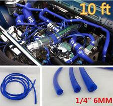 "6MM/1/4""ID BLUE FULL SILICONE TURBO AIR VACUUM HOSE/LINE/PIPE/TUBE 10 FOOT FEET"