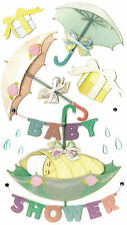 RARE Baby Shower Umbrellas Gifts Pregnancy Pregnant Mommy Jolee's 3D Stickers