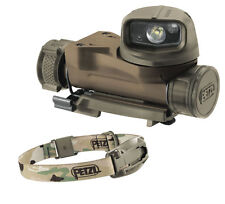 Petzl STRIX VL Tactical Military Head Torch MOLLE Flashlight Helmet Light Camo
