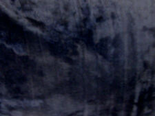 "KosiKrafts 60"" Navy Blue Faux Fur  Fabric Material By The Metre"