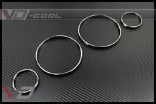 SILVER CLUSTER DASHBOARD GAUGE RING RINGS FOR BMW E38 E39 E53-X5