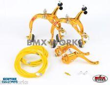 Dia-Compe MX1000 - MX123 (Tech-4) Gold Brake Set - Old Vintage School BMX