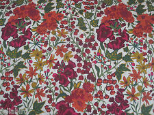 "LIBERTY OF LONDON TANA LAWN FABRIC DESIGN ""Edna"" 2.2 METRES PINK & ORANGE"