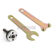 Drill Angle Grinder Mandrel Adapter Disc Holder Kit Spanner Set M10/16mm Hole