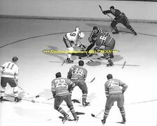RALPH BACKSTROM & HABS Faceoff vs St Louis Blues @MONTREAL FORUM 8x10 Photo~@@