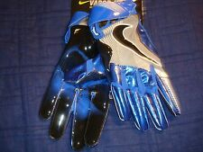 NIKE VAPOR JET 4  FOOTBALL GLOVE BLUE/SILVER/BLACK GF0491-447 MEN'S LARGE