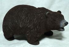 vintage  1950's? large  BROWN BEAR Fuzzy BANK