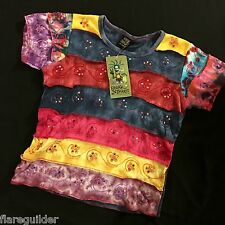 Hand made Freak Street Striped Patch Tie Dye Ladies S/M Shirt NEW NWT Shop Thera