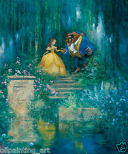 Oil Painting HD Print Art Canvas,James Coleman Disney beauty and the Beast 15x18