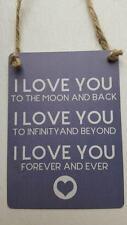 Te amo a la Luna y posterior Love To Infinity Mini Metal Chic N Shabby Signo