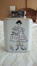 VTG CERAMIC TABLE LIGHTER - PARISIAN GIRL - MADE IN JAPAN