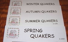 ROSEWOOD MANOR SPRING, SUMMER AUTUMN WINTER QUAKERS CROSS STITCH CHART PREORDER
