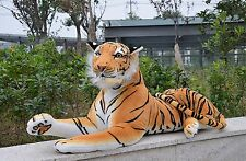Fancytrader 67'' Life Size Huge Giant Plush Stuffed Tiger Emulational Toy Animal