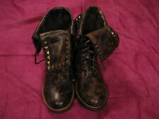 NOVO ANKLE WARRIOR BOOTS - BROWN - SIZE 5 - MANMADE UPPER - LACE-UP - NWT