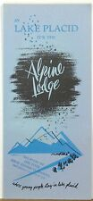 1950's Alpine Lodge Lake Placid New York vintage brochure with rate card b
