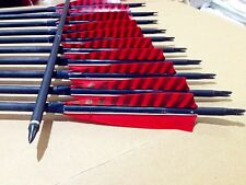 12pcs carbon arrow 32inch outdoor archery hunting practice game for recurve bow