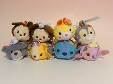 SET OF 8! Valentine Disney Store JAPAN 2016* MINI MAME TSUM TSUM* MIckey,Angel..
