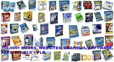 350,000+Ebooks, Websites, Software, Graphic, Apps, Novels + PLR + RESELL RIGHTS