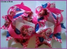 1 x Large, FROZEN HAIR BOW, Elsa, Anna, Girl, Pink, 11cm x 8cm, Free Aus Post,