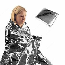 2x Emergency Gear Survival Warm Blanket Thermal Space Mylar First Aid Rescue