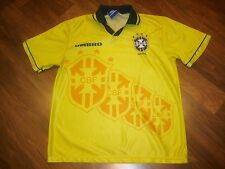 Rare Vtg 1994 World Cup Umbro BRAZIL Football Soccer Mens MEDIUM Brasil Jersey M