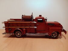 Reproduction firefighter truck citerne old sheet miniature vehicle car