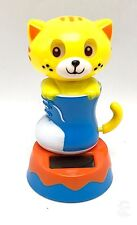 Solar Cat In Boot Powered Dancing Animated Bobble Swing New