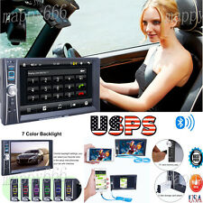 7 Double 2 Din Touchscreen In dash Car Stereo Radio Mp3 MP5 Player FM Aux USA